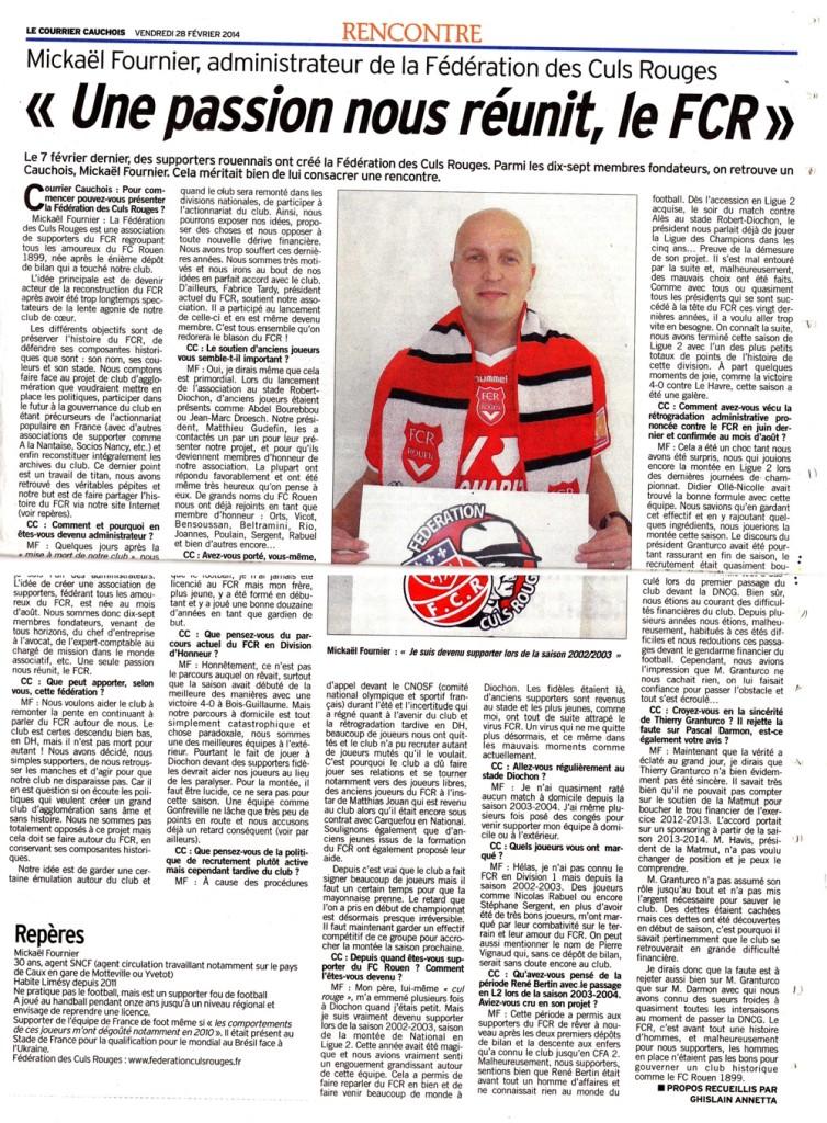 Article Courrier Cauchois