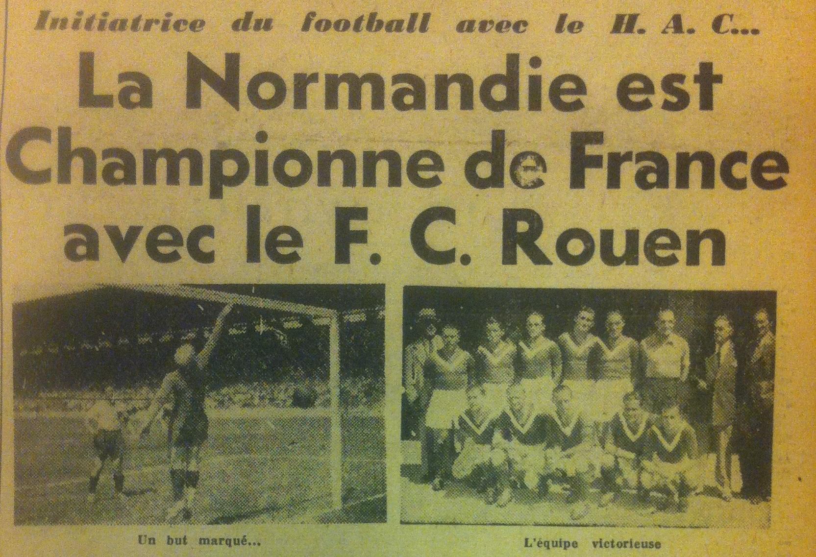 FC Rouen champion de france
