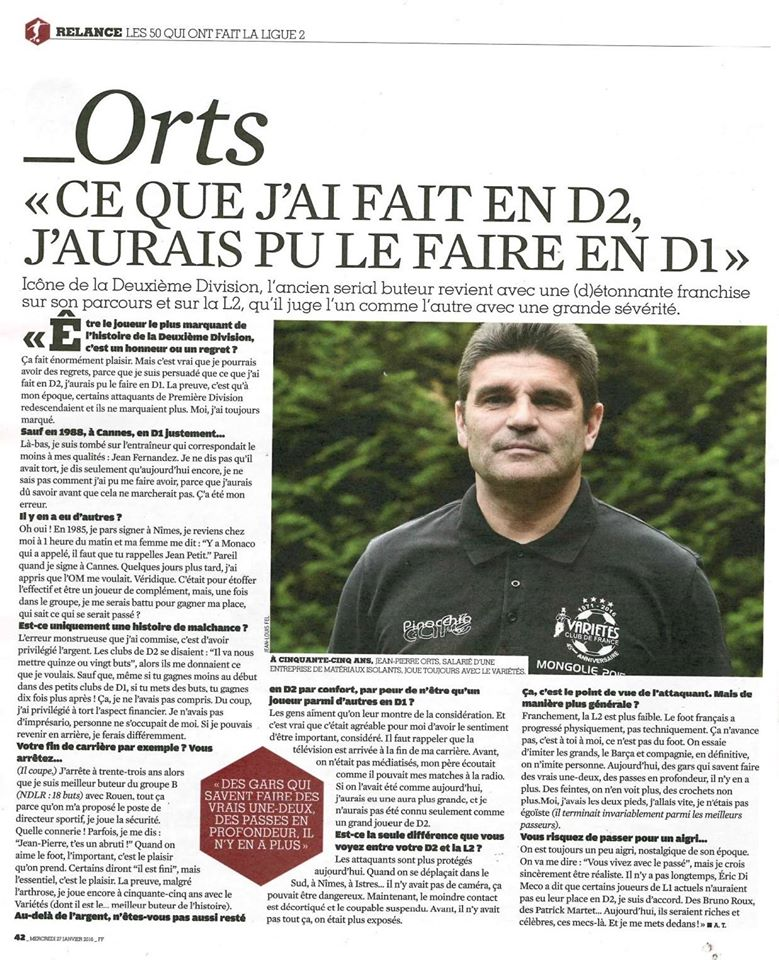 France Football Jean-Pierre Orts